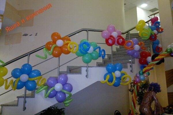 Украсить зал шарами без гелия своими руками