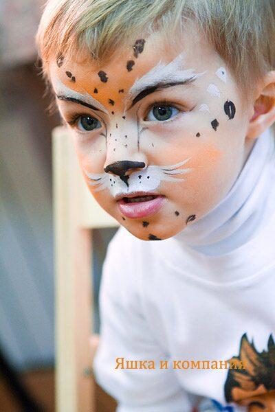 аквагрим кот - Поиск в Google | Фейс-арт, Детский грим, Лицо | 600x400